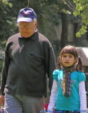 Arina with her grandfather