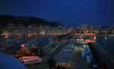 Toulon harbour by night.