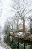 le canal, en hiver.