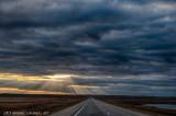 Fall Storm Sunset