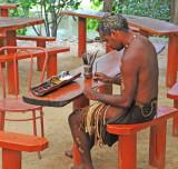 Aboriginal Person Doing Art Work