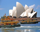 Opera House with Boats Crossing
