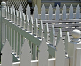 Interesting pattern of fence at Dr. Clark's Home