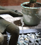 Water from Statue's Hands for Fountain, -10-