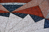 Lovely colors and triangular designs of granite tiles