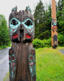 Totem Pole Park  in the Rain! - Ketchikan