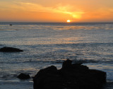 Sunset -- Seashore at Town of Cambria