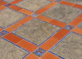 Tiles on walk way