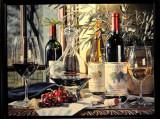 Elegant Wine Display in Store Window