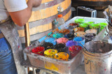 Colorful Oil Paint Containers