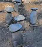 Stone Mushrooms Display at Winery