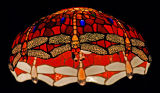 Colored-glass Lampshade, McNel's English Pub, Ilwaco, WA