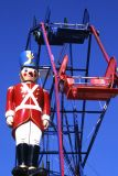 Ferris Wheel and Guardian Soldier, Balboa, CA