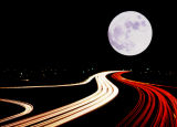 Freeway to the Moon!; Brea, CA — from 57 Freeway overpass.