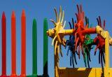 Colorful Farm Tools