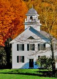 Church in Vermont, in the Fall