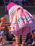 Clown Giving Away Little Gifts