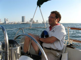 motoring off Atlantic City the morning of day 6