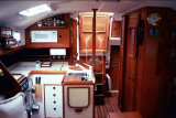 aft cabin & galley from saloon