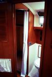 fwd door to head & shower compartment to port
