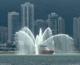 HK.FIREBOAT in the BAY