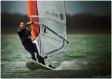 LAC DU DER.Wind surfer on the Lake