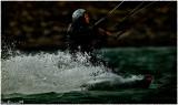 LAC DU DER.Kite surfer on the Lake II