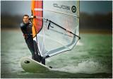 LAC DU DER.Wind surfer on the Lake II