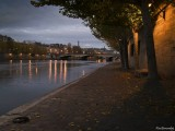2.PARIS.Border of the SEINE.The day is arrivng ,the lights were off in a few minutes