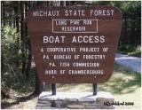 Long Pine Reservoir-Adams Co. PA