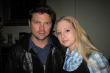 Rena spotted with Karl Urban