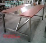 robusto tavolo inox per macelleria con fibra alimentare