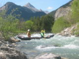 Germana e Flavio M. sulla canoa pneumatic