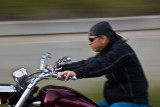 Motorcyclist at Mount Rushmore National Memorial
