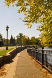 Autumn on the Mill Pond Bridge  ~  October 7