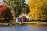 Mill Pond Home in Autumn  ~  October 14