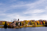 Fall Morning at the Mill Pond Church  ~  October 21