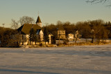 Mill Pond Church Winter Sunset  ~  December 5