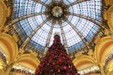 Christmas tree in the Galleries Lafayette superstore