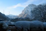 ein schöner Winter Morgen