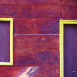 Wooden doors and walls
