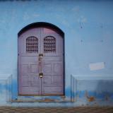 Blue door & wall