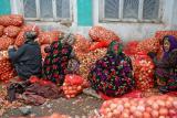 Chakrysab - Oignons market, Uzbekistan