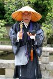 Colorful monk, Kyoto, Japan