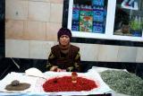 Selling spices, Samarkand, Uzbekistan