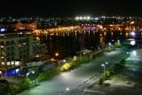 Orenjestad's harbor at night