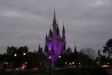 Castle lights at dusk
