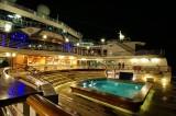 Aft pool at night