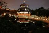 China temple reflection