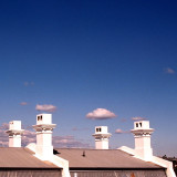 Chimneys with Clouds